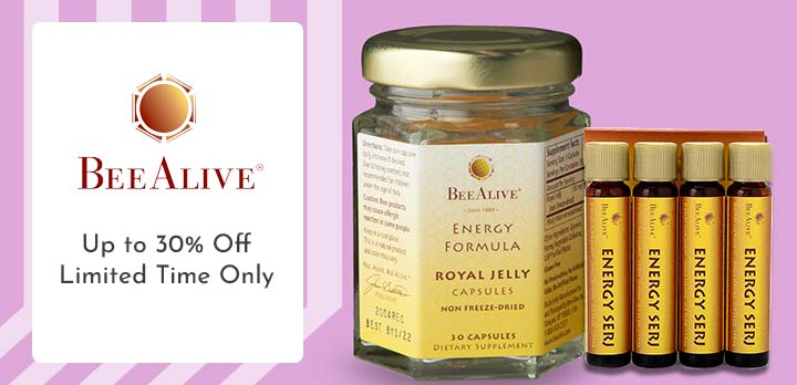 BeeAlive 004-179 BeeAlive Sweet Energy Formula Choice of Supply w Bonus Energy Serj on 90 Day Supply