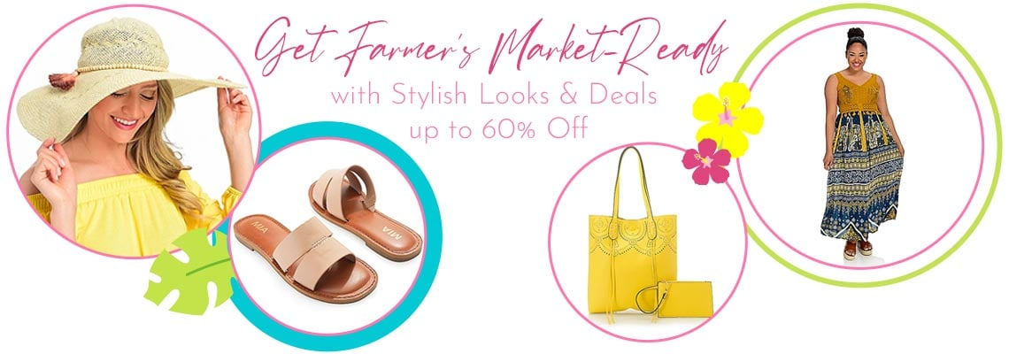 Get Farmer's Market-Ready with Stylish Looks & Deals up to 60% Off , 751-279, 752-557,  747-251,  752-348