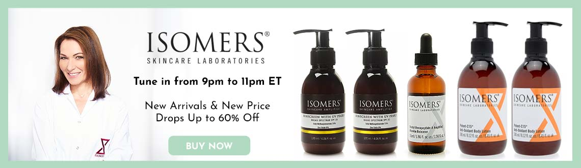 ISOMERS - Tune in from 9pm to 11pm ET  New Arrivals & New Price Drops Up to 60% Off -  307-762 ISOMERS Skincare Sunscreen w UV Pearls Broad Spectrum SPF 20 Duo 4.06 oz Each,  320-098 ISOMERS Skincare No Wrinkles Beautiful Body Duo