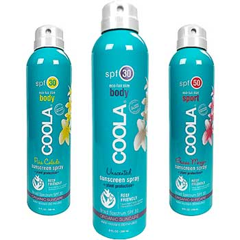 318-018 Coola Eco-Lux Sport Continuous Spray SPF 30 Unscented
