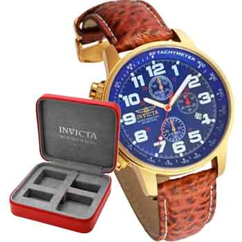 692-444 Invicta 46mm I Force Lefty Quartz Chronograph Strap Watch w 2-Slot Case