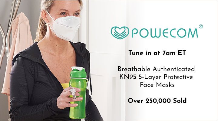 003-046 Powecom Breathable Authenticated KN95 5-Layer Protective Face Masks for Personal Use