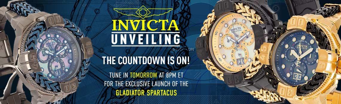 697-399 Invicta Reserve Gladiator Men's 60mm Spartacus Swiss Quartz Chronograph Bracelet Watch