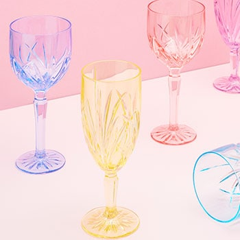 Waterford Crystal Impress Your Valentine - 482-129 Marquis by Waterford Set of 6 (12 oz) Brookside Pastel Glasses