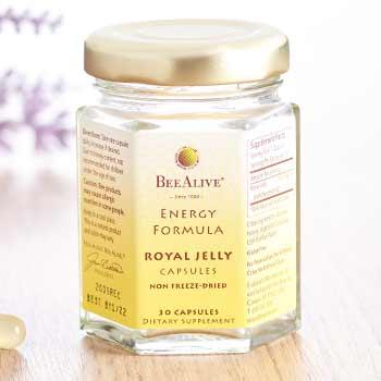 BeeAlive Free Serj with 90 Day Supply -$15 Value - 002-715 BeeAlive Royal Jelly Energy Capsules Choice of Supply w Bonus Energy Serj on 90 Day