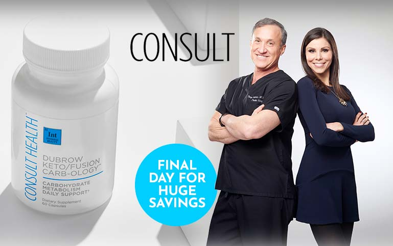 Consult -  Final Day for Huge Savings on Your Favorites 315-456 Consult Health Dubrow KetoFusion Appetite Satiating Shake (Choice of Flavor)
