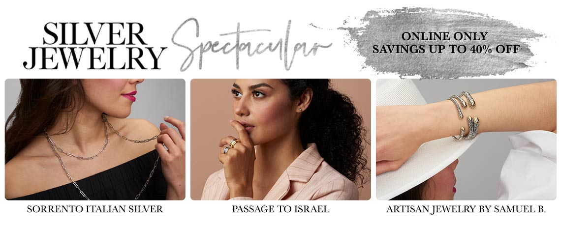 Silver Spectacular Online Only Savings Up to 40% Off