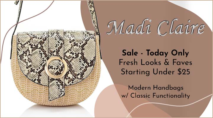 760-471 Madi Claire Basket Weave Faux Leather Flap Over Crossbody Bag