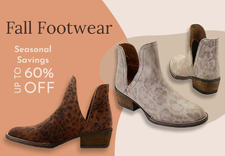 745-517 Corkys Girl Depo Animal Printed Suede Leather Ankle Boots