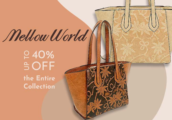 743-722 Marissa Embossed Floral Printed Distressed Faux Leather Winged Tote Bag w Strap