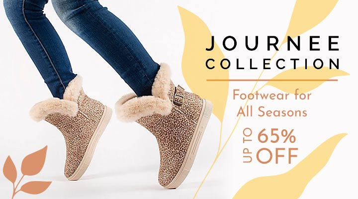 745-256 Journee Collection Sibby Faux Suede Winter Boots