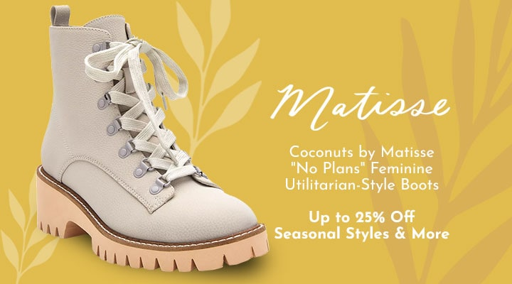 762-524 Coconuts by Matisse No Plans Feminine Utilitarian-Style Boots