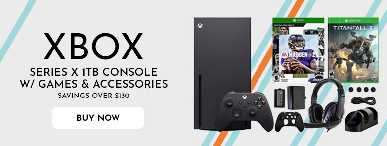 Series X 1 TB Console with Games & Accessories Kit  Savings Over $130