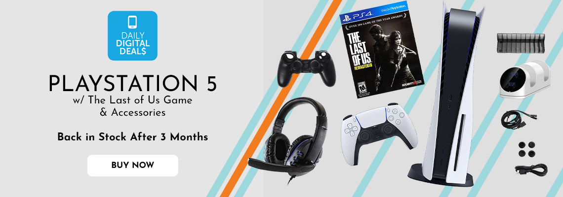 501-385  -  PlayStation 5 w The Last of Us Game & Accessories  Back in Stock After 3 Months