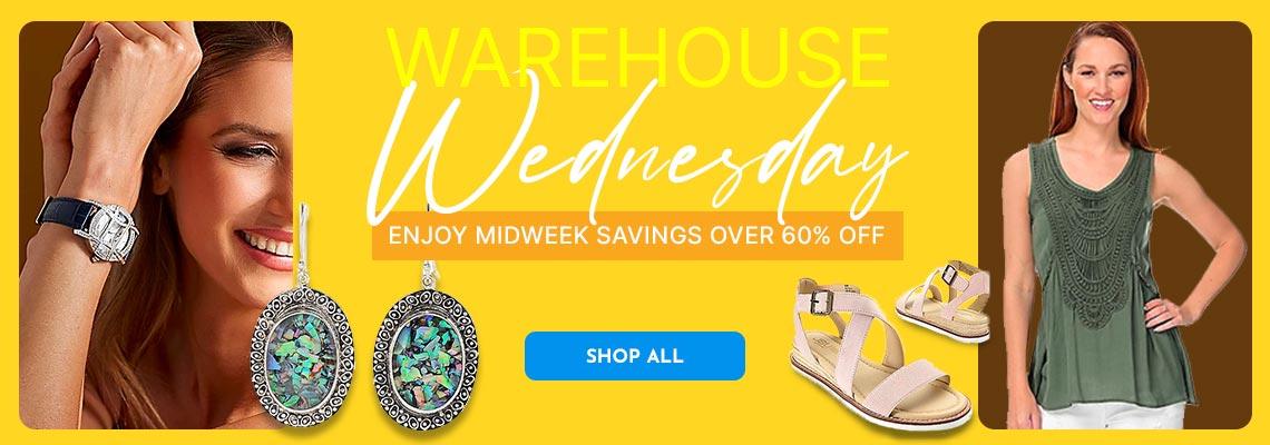 Warehouse Wednesday - Enjoy Midweek Savings Over 60% Off  675-055, 181-541,  747-076, 741-479