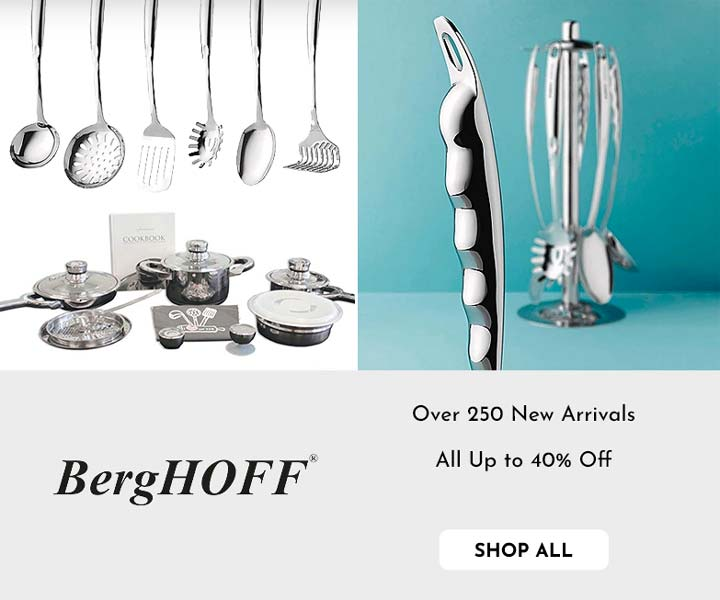 505-003 BergHOFF TFK Gourmet Collection 15pc 1810 Stainless Steel Cookware Set,  504-763 BergHOFF Essentials 7pc Kitchen Utensil Set