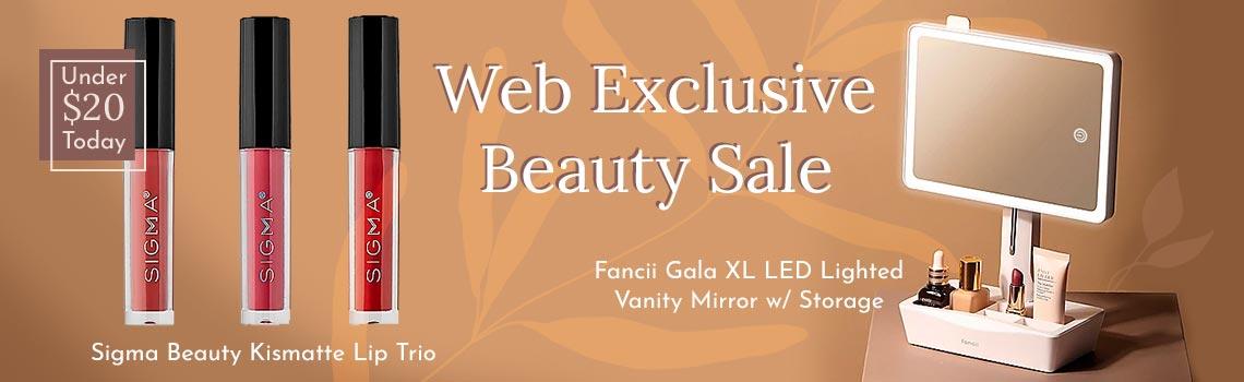 319-774 Sigma Beauty Kismatte Lip Trio, 319-893 Fancii Gala XL LED Lighted Vanity Mirror w Storage