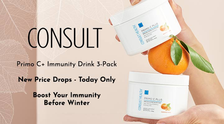 320-339 Today's Top Beauty Deals  Consult Health Primo C+ Immunity Drink 3-Pack