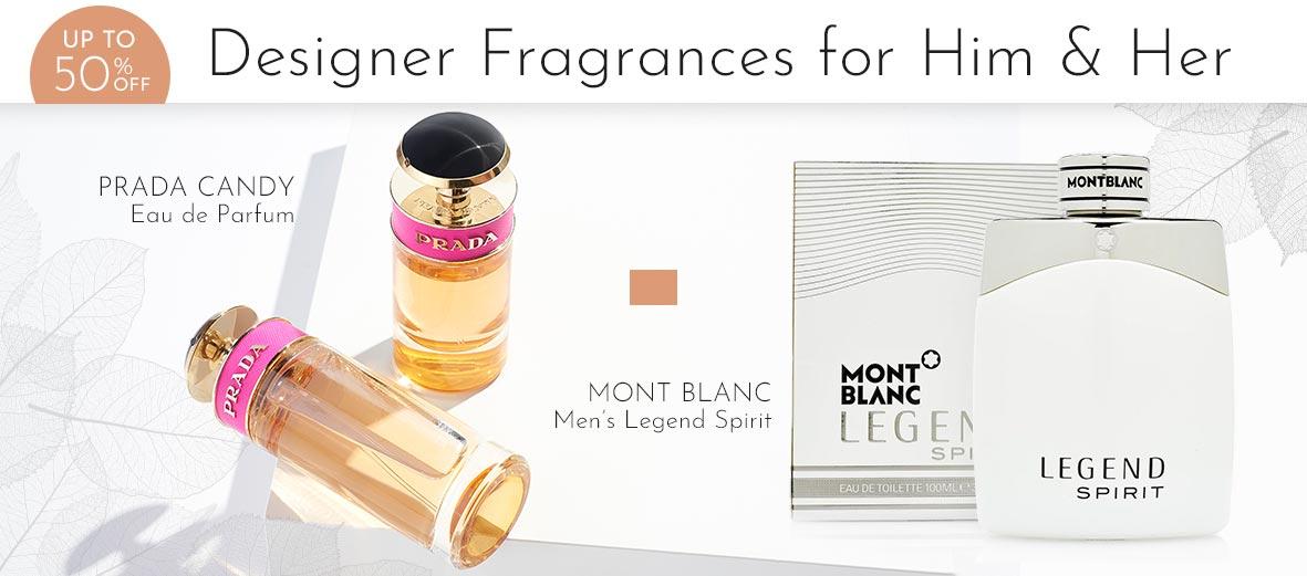 316-930 Prada Candy Eau de Parfum 1.7 oz, 316-821 Mont Blanc Men's Legend Spirit Eau de Toilette Choice of Size