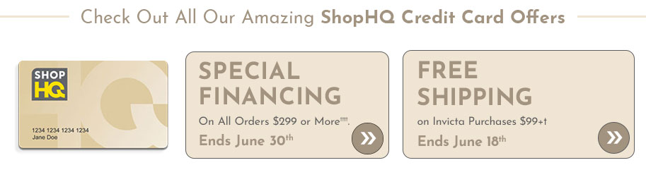 Special Financing on All Orders $299 or More†††† , Free Shipping on Invicta Purchases $99+†  Ends June 18th