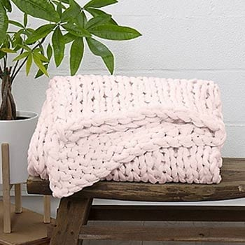 507-314 Home Collection 47'' x 59'' Chunky Knit Throw Blanket