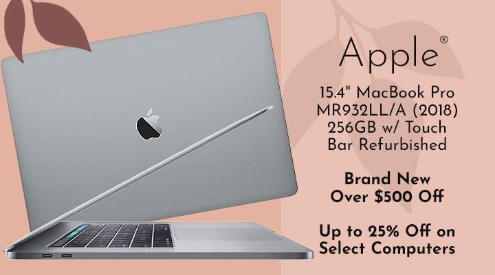 494-772  Copy: Apple®  15.4 MacBook Pro MR932LLA (2018) 256GB w Touch Bar - Refurbished