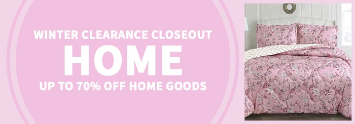 Winter Clearance Closeout Up to 70% Off Home Goods - 480-038 Cozelle® Belle du Jour Microluxe™ All Season Reversible 3-Piece Comforter Set