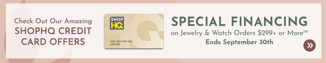 Special Financing on Jewelry & Watch Orders $299+ or More††††