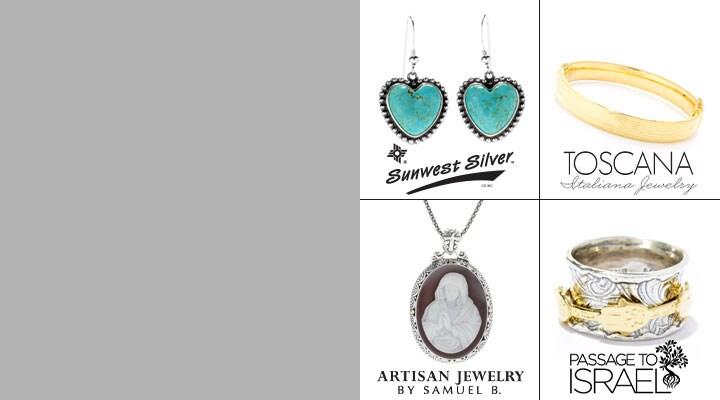 185-419 Sunwest Silver , 191-124 Toscana, 177-186 Artisan Jewelry Sam B, 190-879 Passage to Israel