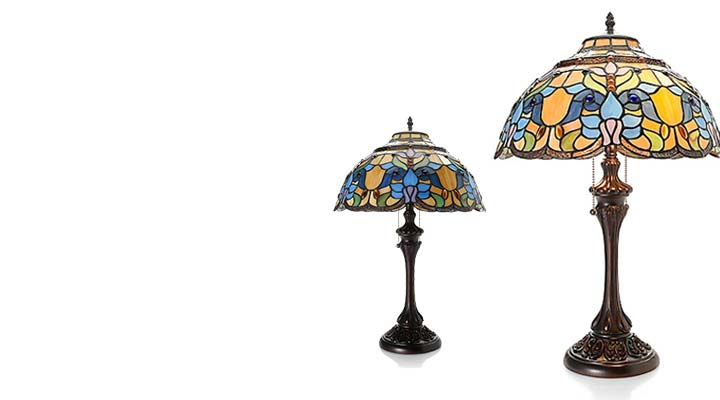 486-438 - Tiffany-Style 14.5 Gypsy Stained Glass Table Lamp