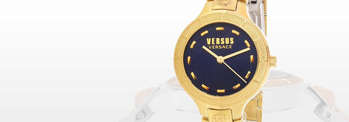 676-112 Versus Versace Women's Claremont Quartz Stainless Steel Bracelet Watch