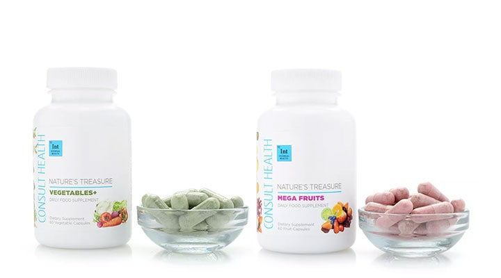 318-985 Consult Health Nature's Treasures Mega Fruit & Vegetables+ Daily Food Supplement