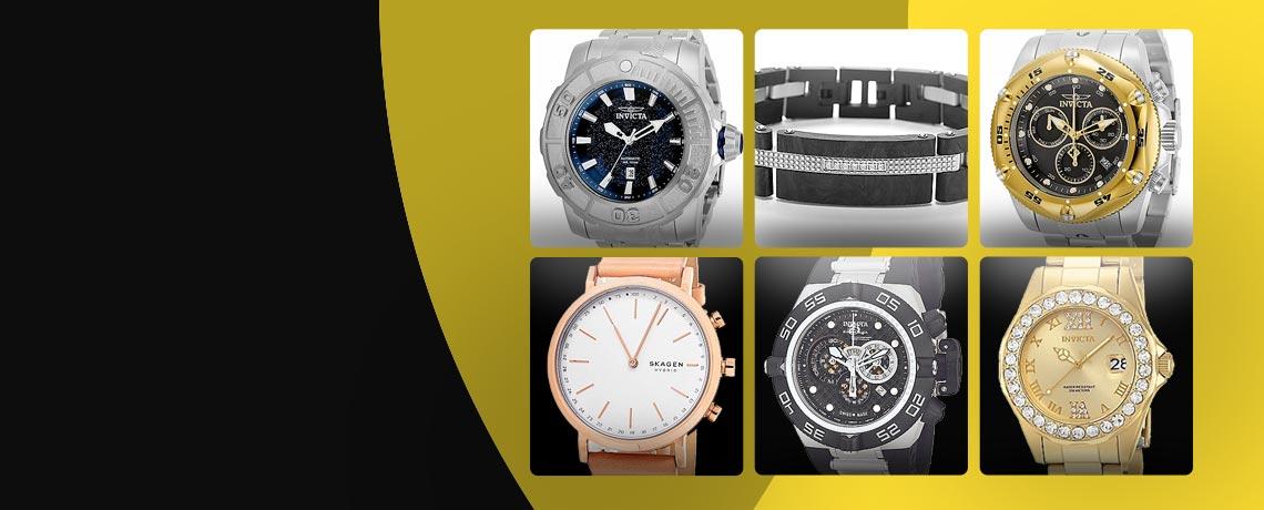 687-178 Coalition Force 687-428 Pro Diver 684-008 INVJ Bracelet 671-182 Skagen 686-301 Subaqua 658-624 Women's Pro Diver