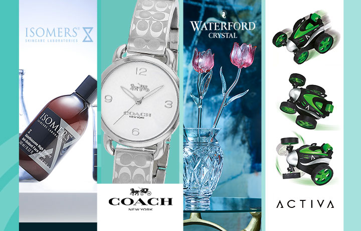 315-607 ISOMERS Skincare Bonus Size Glutathiosome Antioxidant Face Serum 8.12 oz,  688-772 Coach Women's Delancey Quartz Monogram Stainless Steel Bracelet Watch,  487-943 Waterford Crystal Fleurology Pink Tulip,  498-948 Activa Bluetooth Dynamic Wireless Earphones w Charging Case & Voice Assistant