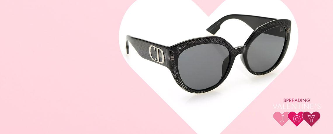 752-588 Christian Dior DDiorF 56mm Cat Eye Frame Sunglasses w Case