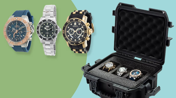 690-562 - TTV Invicta Collector's Set of 3 Watches in Dive Case