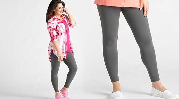 747-662 - TTV Presale OSO Casuals® Stretch Knit Wide Waistband Ankle-Length Leggings