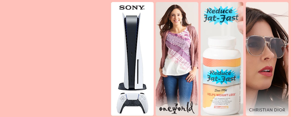 501-385 PlayStation 5 w The Last of Us Game & Accessories,   746-300 One World Pointelle Knit 34 Sleeve Scalloped Hem Cardigan,  004-165 Reduce Fat-Fast Dietary Supplement Choice of Supply, 753-831 Christian Dior Blacktie Unisex 56mm Round Frame Sunglasses