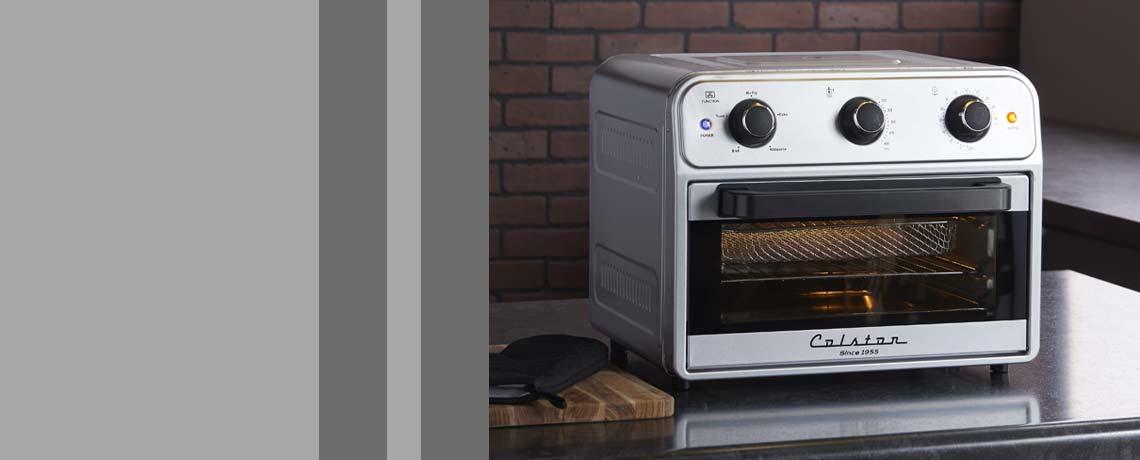 499-591 Colston 1800W Auto Shut Off Air Fry Oven w Accessories