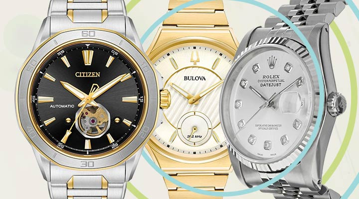 Enjoy Free Shipping On All Watch Orders $99+ With Code: FREESHIP -  688-373 Pre-Owned Rolex Men's DateJust Jubilee with Diamond Dial Stainless Steel Bracelet Watch,  685-135 Bulova Women's Curv Quartz Diamond Accented Gold-tone Stainless Steel Bracelet Watch,  674-303 Citizen Men's 44mm Signature Octavia Exclusive Automatic Movement Bracelet Watch