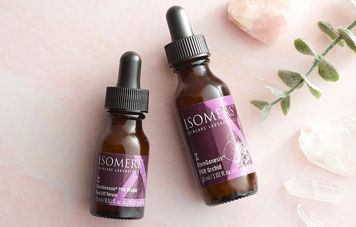 316-255 - TTV  ISOMERS Skincare Stem Genesis PUR Orchid Eye Lift & Face Serum Duo