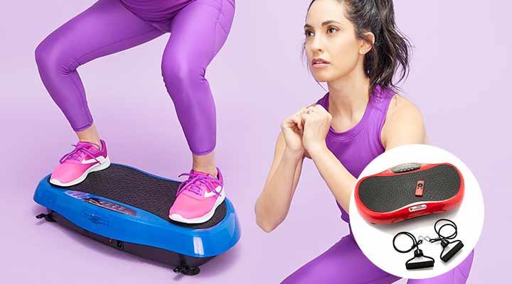 002-701 Medic Therapeutics Vibrating Fitness Platform w Resistance Bands & Remote