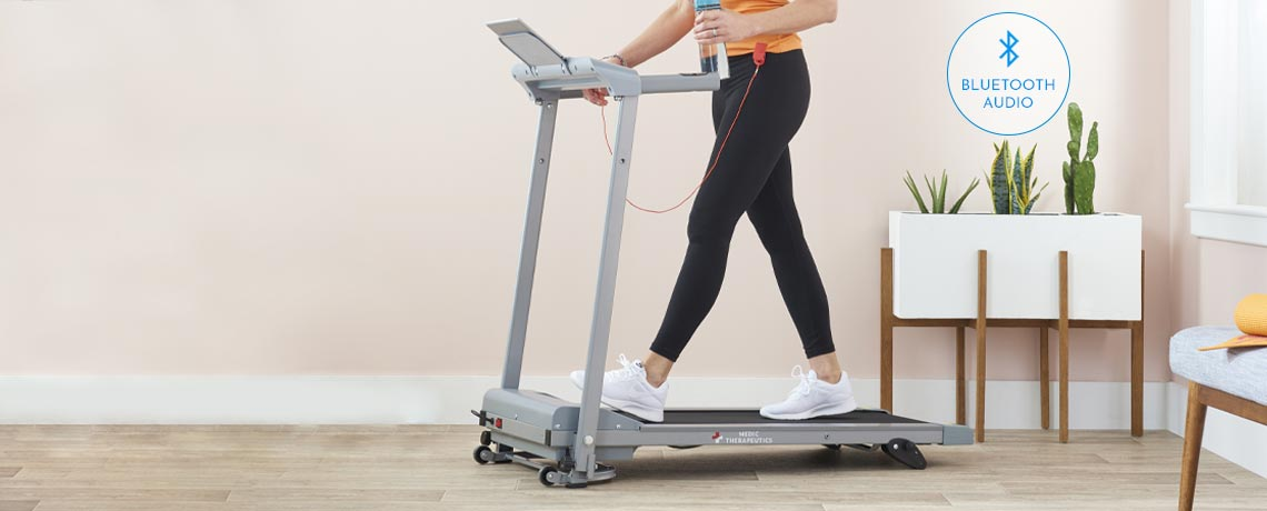003-887 - Medic Therapeutics  Portable Slimline Treadmill Plus w Bluetooth Audio