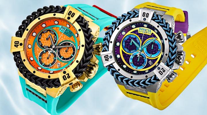682-185 Invicta Bolt Herc Reserve Men's 56mm Puppy Edition Swiss Quartz Chronograph Strap Watch