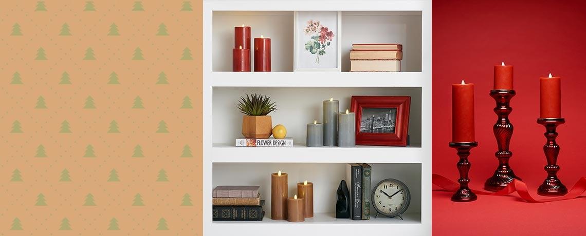 492-377 Luminara Set of 3 (4, 6 & 8) Flameless Candles w Gift Box & Remote