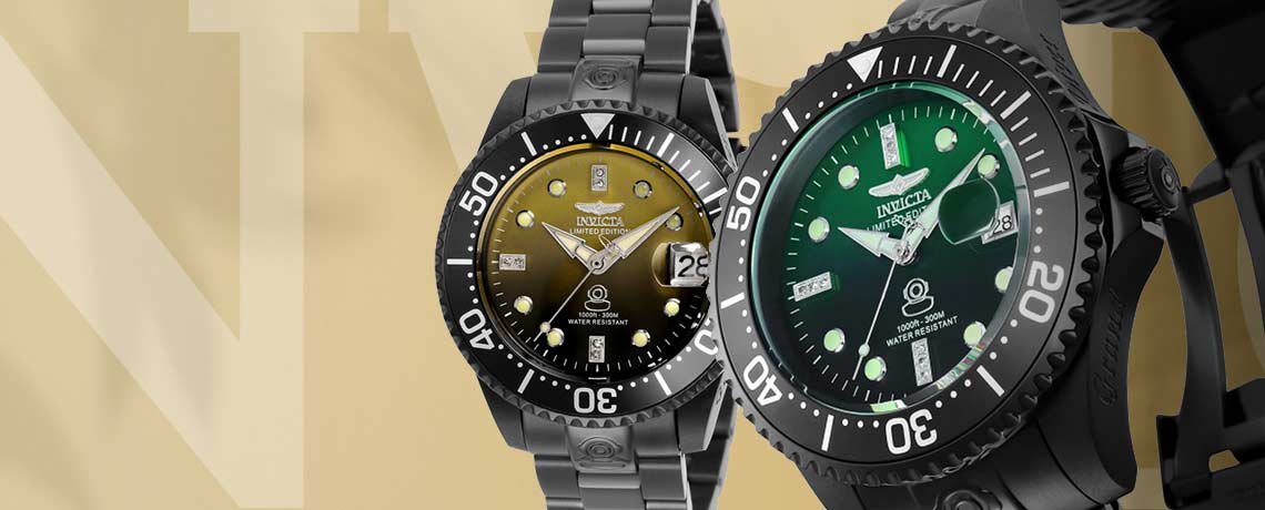 38mm or 47mm Grand Diver Fade Limited Edition Automatic Diamond Accented Watch w 3DC  Brand New Exclusive Limited Quantity on this Only Order of the Year
