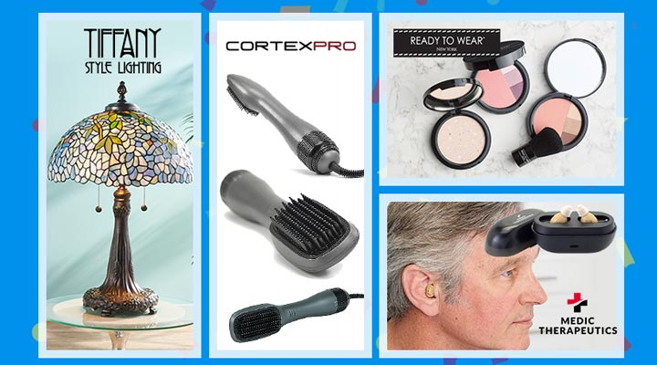 Today's Top Values & Deals -    497-264 Dale Tiffany Wisteria 27.5 Table Lamp,  320-128 CortexPro Pro Dryer Brush, 320-168 Ready to Wear Couture Powder and Eyeshadow Blush Anniversary Trio,  005-151 Living Essentials Portable Slim Fold Treadmill w Bluetooth Audio