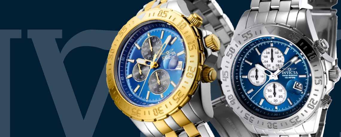 693-761 Invicta 47mm Aviator Maverick Quartz Chronograph Bracelet Watch w 1-Slot Dive Case