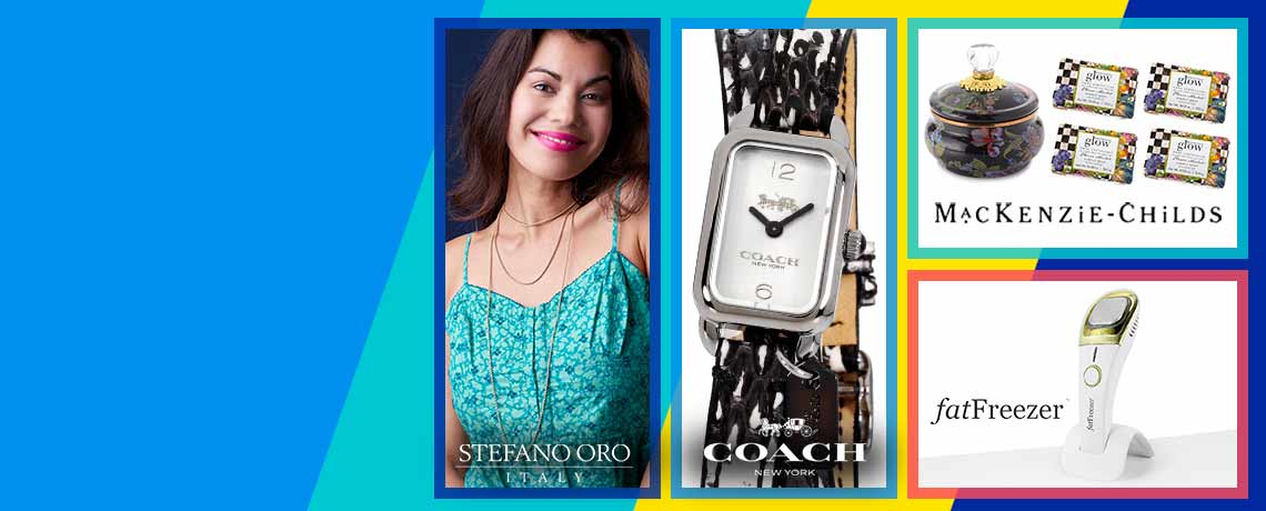 Today's Top Values & Deals -   153-653 Stefano Oro Velvet Rope 14K Gold Semi-Solid Rope Chain Necklace 695-847 Coach Women's Ludlow Quartz Double Wrap Strap Watch w Engraved Charm,  004-550 Jessica Simpson Therapy Wireless Massage Gun w 4 Interchangeable Attachments,  507-068 MacKenzie-Childs 6 Hand-Decorated Squashed Pot w 4 Flower Market Soap Bars