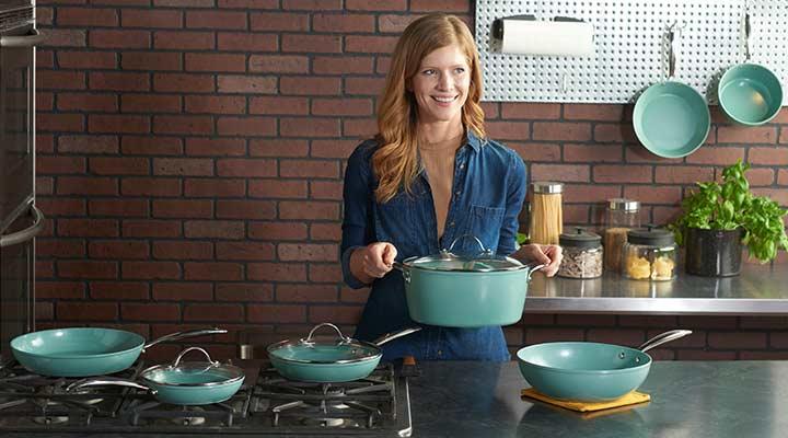 499-593 Colston Chef Edition Jade Elite 10-Piece Cookware Set